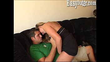 EasyDater - Blond on a blind date get an unexpected creampie and freaks out 20 min