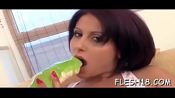 Stupendous Danica with round natural tits adores oral games