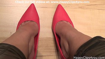 Naomi red high heels dipping video thumbnail