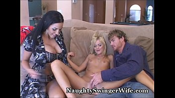Milf threeway tube8 Stacked wifey shares hubby with coed