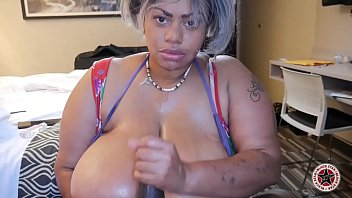 Atlanta BBW milf deepthroats big black dick for a klondike bar