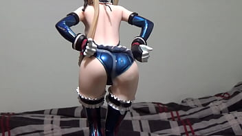 Ip joint in right thumb figure Cumshot on anime figure