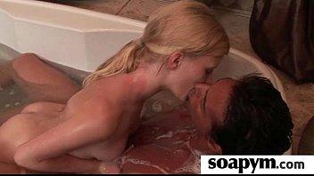 Gorgous teen gives a sexy massage 11