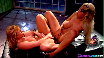 Busty Glamcore Milf Mutually Masturbating In Duo
