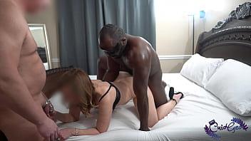 Cuck in chastity while wife fucks BBC bull 36 sec