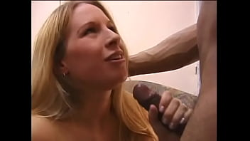 Salacious blonde chick Faye Rampton is not against if well stuffed ebony fellow splits her buns and coughs cabbage water in her mouth