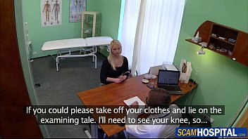 Super hot blonde gets her bandage changed and her sweet pussy by her doctor thumbnail