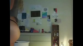 Teen with amazing perfect ass tries on thongs for her friends