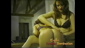 Sexy milfs in lingerie enjoy getting spanked and dominated together