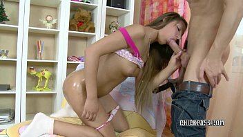 Innocent teen Susanne is getting pounded with a big cock