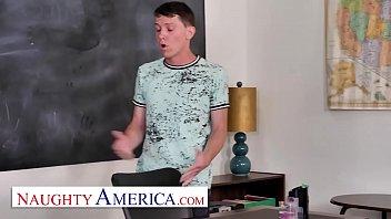 Naughty America - Cherie Deville Fucks Student In Classroom