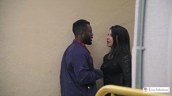 LAS FOLLADORAS - Sexy Latina teen Jade Presley fucks black newbie guy 9 min