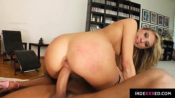 Janet Alfano gets her ass drilled gonzo style in anal scene