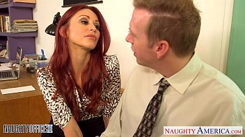 Redhead babe Monique Alexander fuck in office