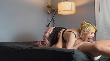 Big Titty Goth Slut Prepares Ritual and Deepthroats Cock with Sloppy Blowjob for Throatpie
