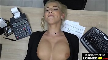 Approved breast enhancement pills - Big tits blonde fucks loan manager for approval
