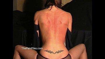 Busty Danii Blacks breast whipping and bareback hellpain spanking of fit blindfo