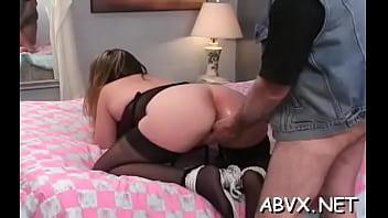 Appetizing maid banging