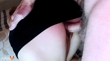 Creampie in Schoolgirl after Lessons (close-up)