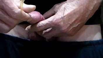 easy urinary catheter insertion and massive ejaculation