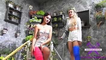 Fetish-Concept.com - 2 Girls with Long Cast Leg visit a flower store Part 1 (LCL)