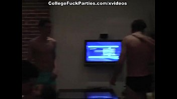 Extra hard college orgy with charming looking babes