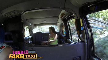 Female Fake Taxi Sexy lesbian fun with toys in british taxi 14 min
