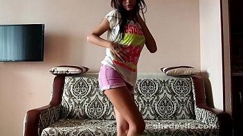 Freaky skinny dream teen Dominika webcam show 6 min