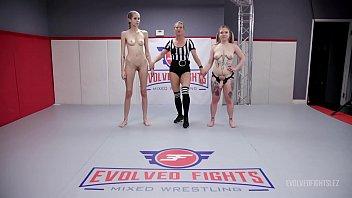 Naked Women Wrestling with Kaiia Eve Fighting Kyaa Chimera then fucking her hard