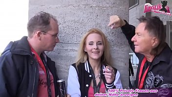 German skinny slut pick up on Erotic Venus in berlin for mmf threesome