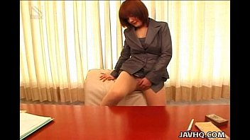 Sexy office lady Anna Yumisaki masturbating Image