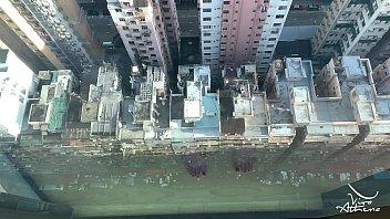 NAUGHTY DESI COLLEGE TEEN RIDES DILDO AGAINST HONG KONG SKYSCRAPER WINDOW 8 min