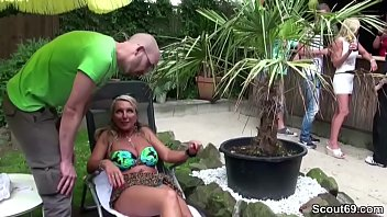 Milf lets 18yr old youngster fuck her at a party