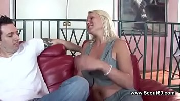 Hot Blonde Milf with Big Tits Fuck Young Big Cock Boy