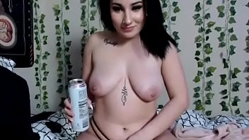 Emo Teen LolaCash Has INTENSE ORGASM While Drinking White Claw & Fingering Herself Whilst Giggling & Talking Shit On Broke Ass Niggas