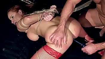 Gorgeous milf woman, Kathy Parker, with natural big boobs, trained to be sex slave, and fucked hard with big thick dick. Part  3.