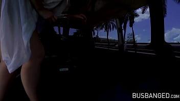 Huge Tits Teen Britt James Takes A Dick Ride In A Van