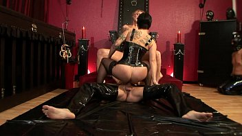 Free rubber straight jacket bondage Nina lee - rubber queen
