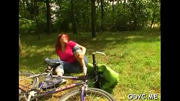 Busty legal age teenager rides old shlong
