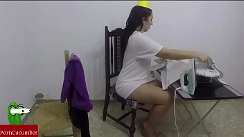 Ironing and ironing and then blowjob with cum in your mouth.RAF075