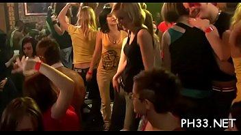 Leaking vaginas - Leaking vagina on the dance floor