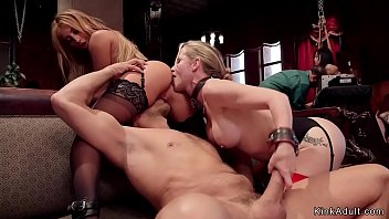 Milf and blonde anal slaves in orgy