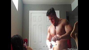 Manitoba amateur bodybuilding association Bodybuilder fucking his slim hottie