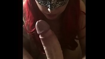 Redhead wife sucks BollardBills 10 inch white cock in blowjob teaser - Part 1