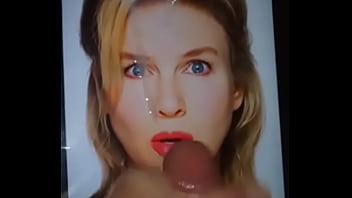 Renee Zellweger Gets A Cum Covered Facial