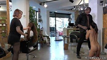 Naked slave fucking at hairdressers thumbnail