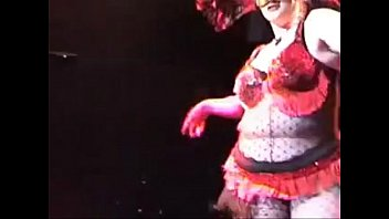 perfect nordic western blonde bbw in masked burlesque dance from