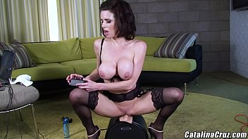 I caught my stepmom riding the Sybian sex machine Veronica Avluv