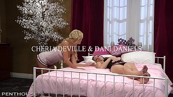 Dani Daniels drives lesbian lover Cherie Deville wild with pussy licking