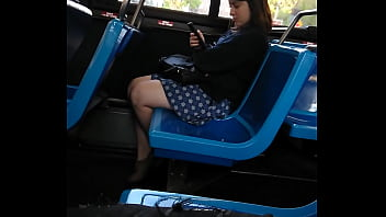 public bbc dickflash on nyc bus! I was high as fuck had coke dick. she smiles